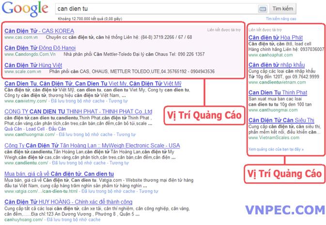 Bảng giá quảng cáo google Click